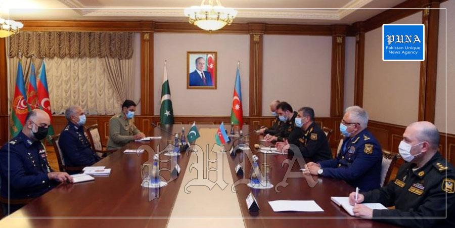 Meeting of PAF Officials with Lt Gen Ramiz Tahirov Commander Azerbaijan