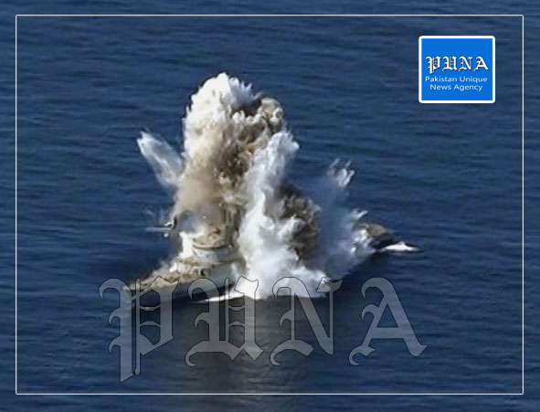 Pak Navy conducts successful Live Weapons firing in North Arabian Sea